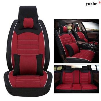 Yuzhe Linen car seat cover For Skoda Octavia 2 a7 a5 Fabia Superb Rapid Yeti Spaceback Joyste car accessories styling cushion