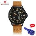 Top luxury brand naviforce reloj para hombre del deporte de la moda relojes de cuarzo de los hombres fecha reloj masculino correa de cuero militar relogio masculino
