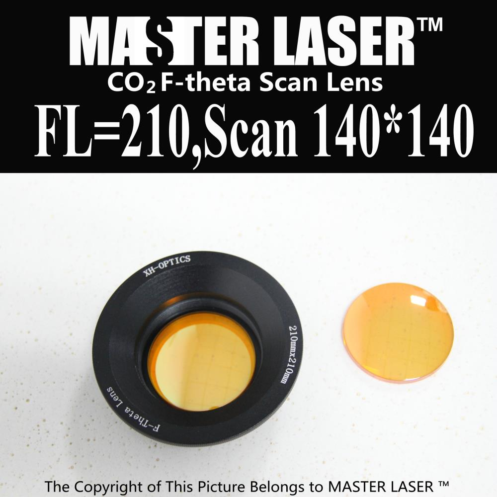 Focal Length 210mm Scan Area 140*140 USA CVD ZnSe CO2 Galvo F-theta Scan Lens System engraving machine scan scope scan area 400x400mm f 520mm co2 laser f theta lens