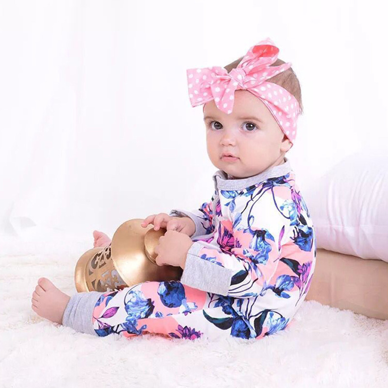 Baby Clothes Infantis Baby Girls   Romper   For 0-2Y Unicorn Costume Ropa Bebe Floral Princess Newborn Girl Jumpsuits Spring Autumn