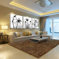 3 Piece Transparent Flower Pictures Wall Canvas Hd Print Oil Painting On Modern Paintings Cuadros Decorativos Picture No Frame