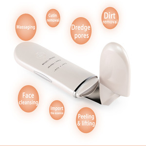 Image 4 - ชาร์จUltrasonic Ion Face Skin ScrubberทำความสะอาดSpatula Peelingการสั่นสะเทือนBlackheadกำจัดขนExfoliating