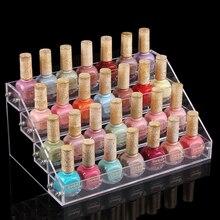 Esmalte de uñas por mayor pantalla cosméticos estante estante organizador de acrílico del maquillaje lápiz labial 4 capas