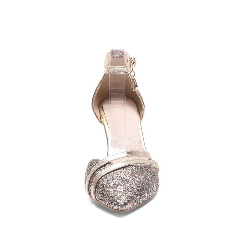 in scarpe fibbia donne a sandali punta con Slim rosa moda a punta scarpe da cristallo grigio estate Wetkiss sposa alti caviglia tacchi tacco argento oro wq0UtHUO