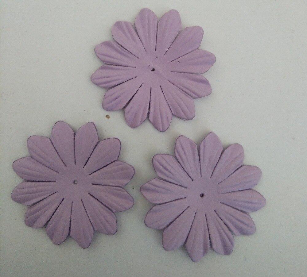 45mm Paper Flowersscrapbook Decorationlilac15pcslotscrapbooking