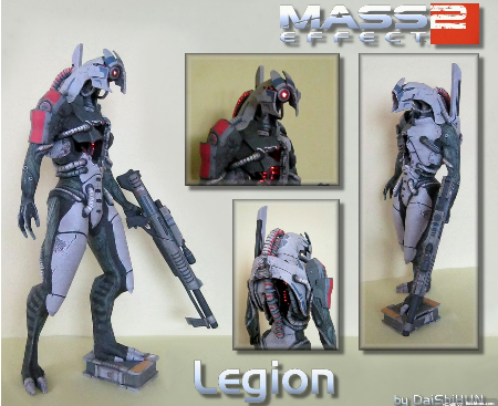 Mass Effect 2 Legion 3D Paper Model