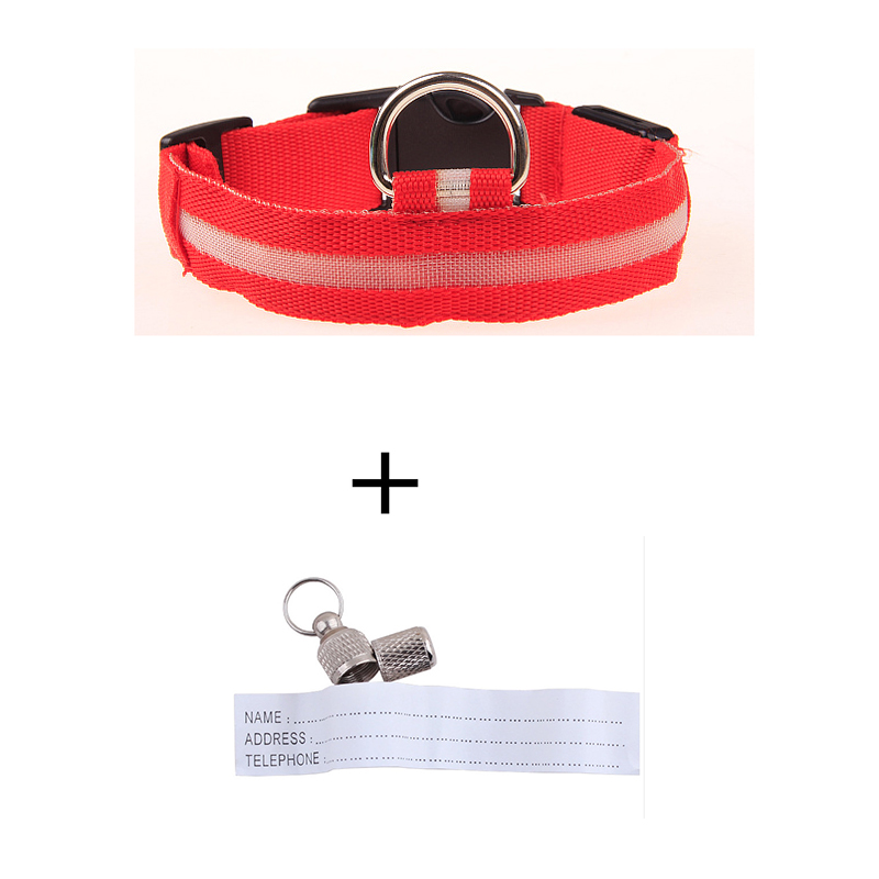 <font><b>LED</b></font> <font><b>Nylon</b></font> Halter <font><b>Pet</b></font> <font><b>Dog</b></font> Cat <font><b>Collar</b></font> <font><b>USB</b></font> Rechargeable for Small <font><b>Dogs</b></font> Night Safety Glowing Flashing with Anti-Lost ID Tag Necklace