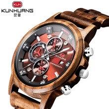 2019 new wooden watch men's multi-function sports wood watchs Antique Quartz Swim Hardlex mens gifts luxury watch men недорго, оригинальная цена