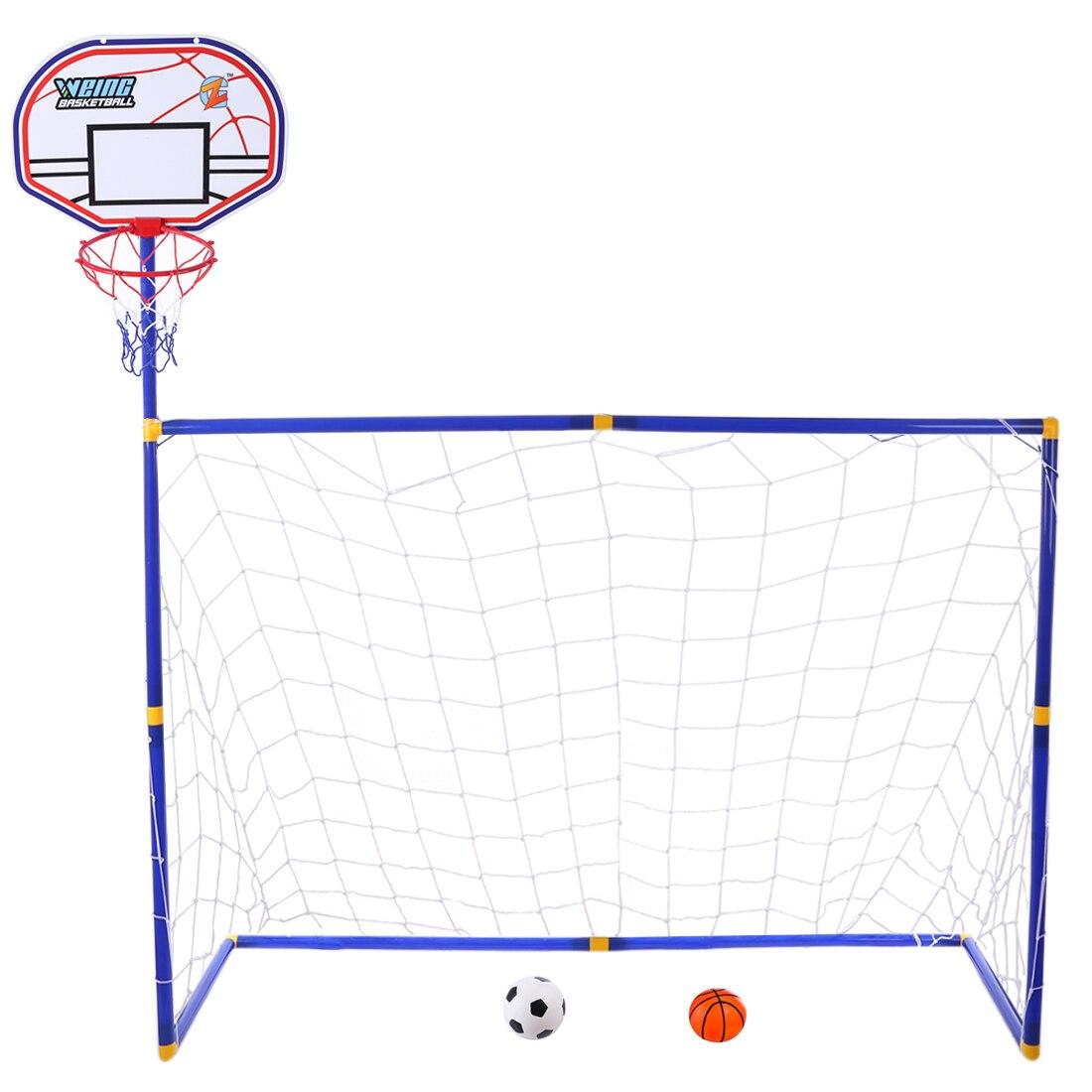 Surwish 2 in 1 Per Bambini Attrezzature Sportive di Calcio di Pallacanestro di Espositori e Alzate per I Bambini All'aperto Giocattolo-ZG270-11