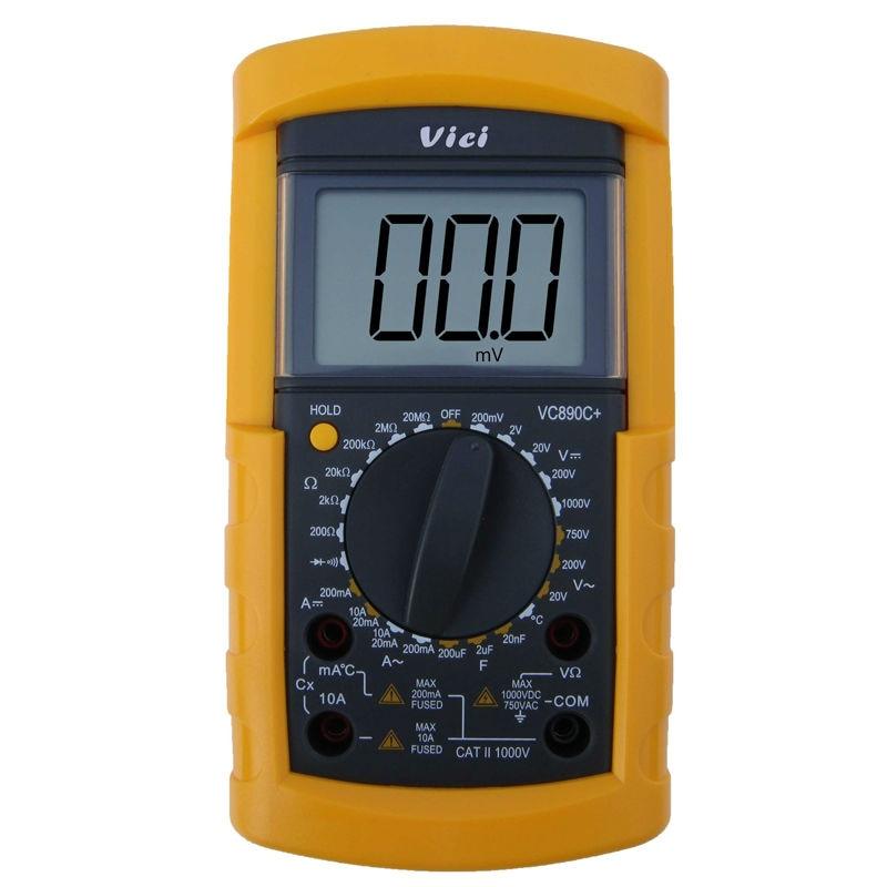 ФОТО VICI VC890C+ Digital Multimeter 3 1/2 manual range DMM Ammeter Voltmeter Ohmmeter W/ Capacitance & Temperature Tester