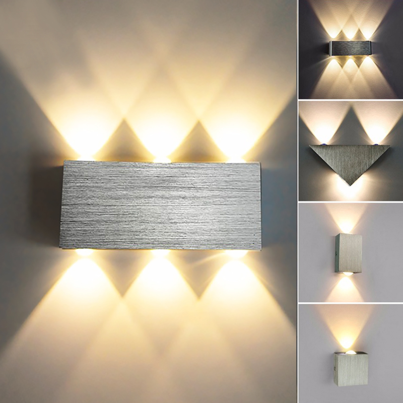 Hot sale new wall lamp modern sconce stair led wall light fixture new wall lamp modern sconce stair led wall light fixture living room bedroom bedside indoor lighting home hallway loft silver aloadofball Images