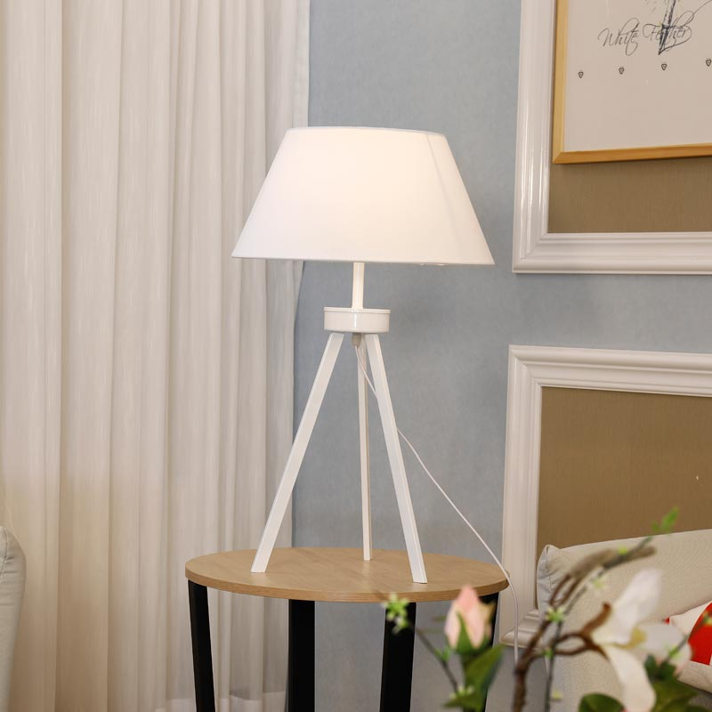 Modern Table Lamp For Living Room Bedroom Bedside Standing Light Fixtrue White Fabric Lampshade Decor Home Lighting E27 110-240V modern wood table floor lamp living room bedroom study standing lamps fabric decor home lights wooden floor standing lights