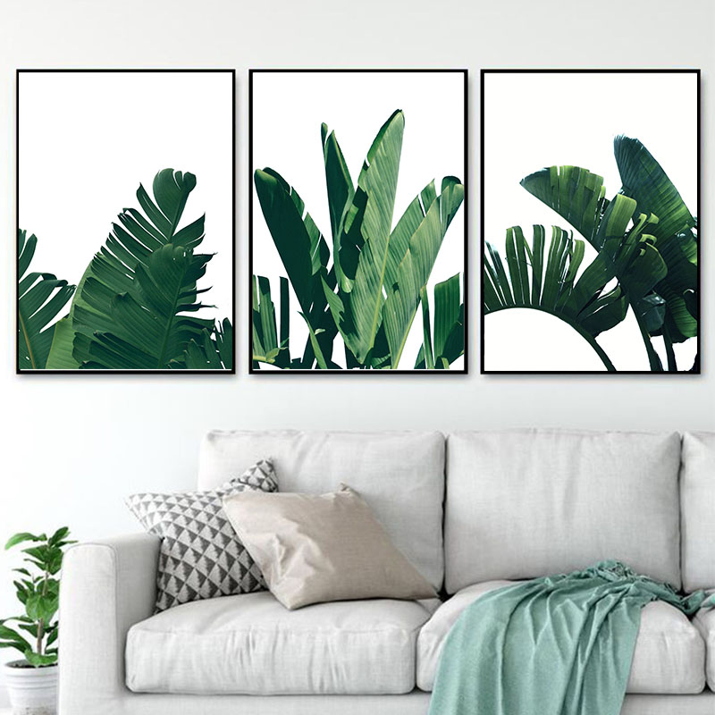 Modern Tropical Plant Leaves Canvas Art Posters And Prints