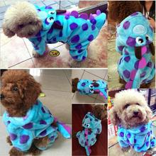 Soft Fleece Dog Cat Jumpsuit Halloween Coat Costumes Pet Overalls Puppy Cat Clothes for Small Cat Dog  Pet