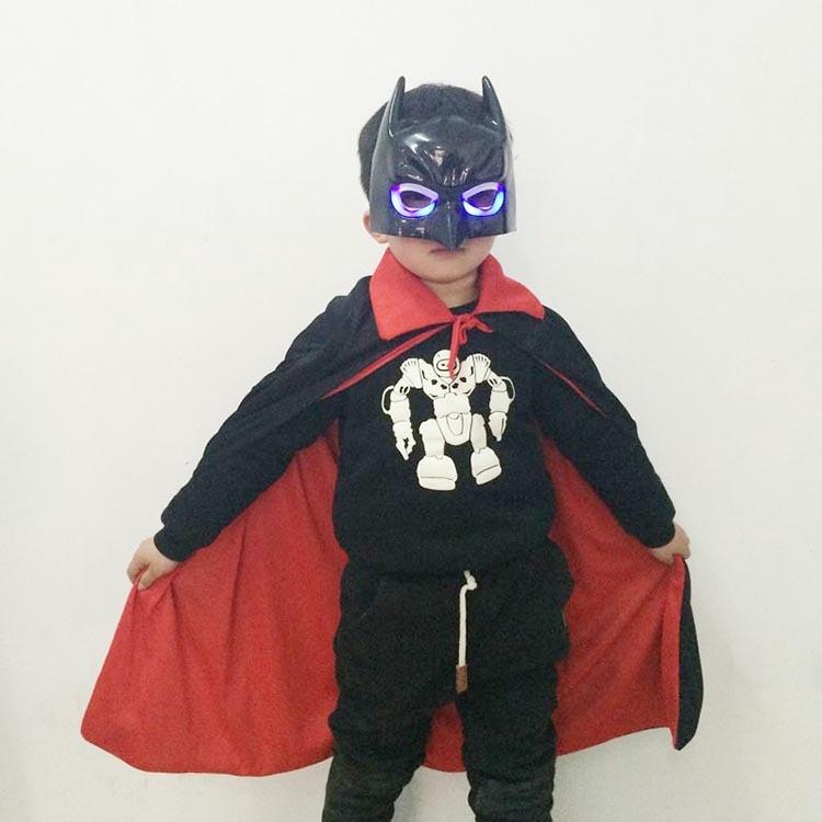Halloween Glow Batman Suit Adult Childrens Magic Death Vampires Cloak Black Suit Party Toys Adult Party Movie Theme Supply
