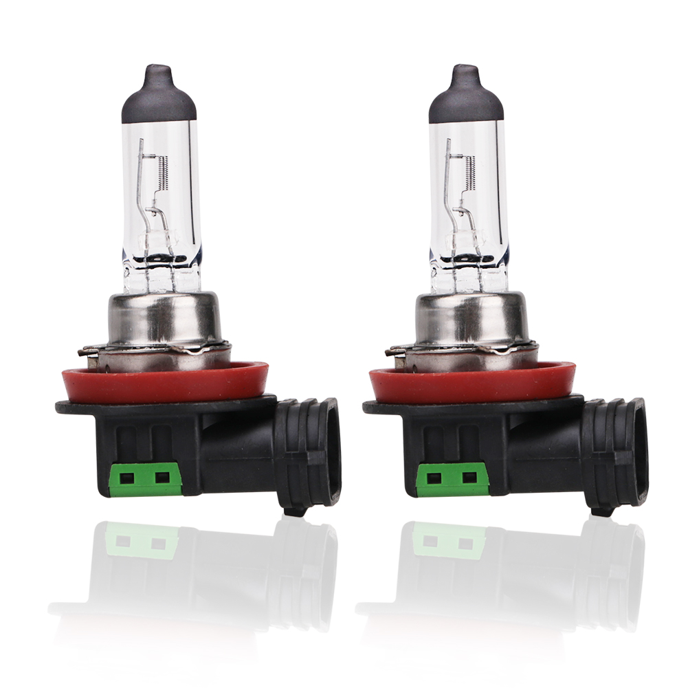 2pcs 12v 55w H11 Halogen Bulb 4300K Quartz Glass Car Fog Light Auto Lamp Halogen Headlight Bulbs White Fog Lights 12v 55w h3 halogen bulbs warm white metal clear glass fog light projector lens h3 fog lights for car auto fog lamp headlight