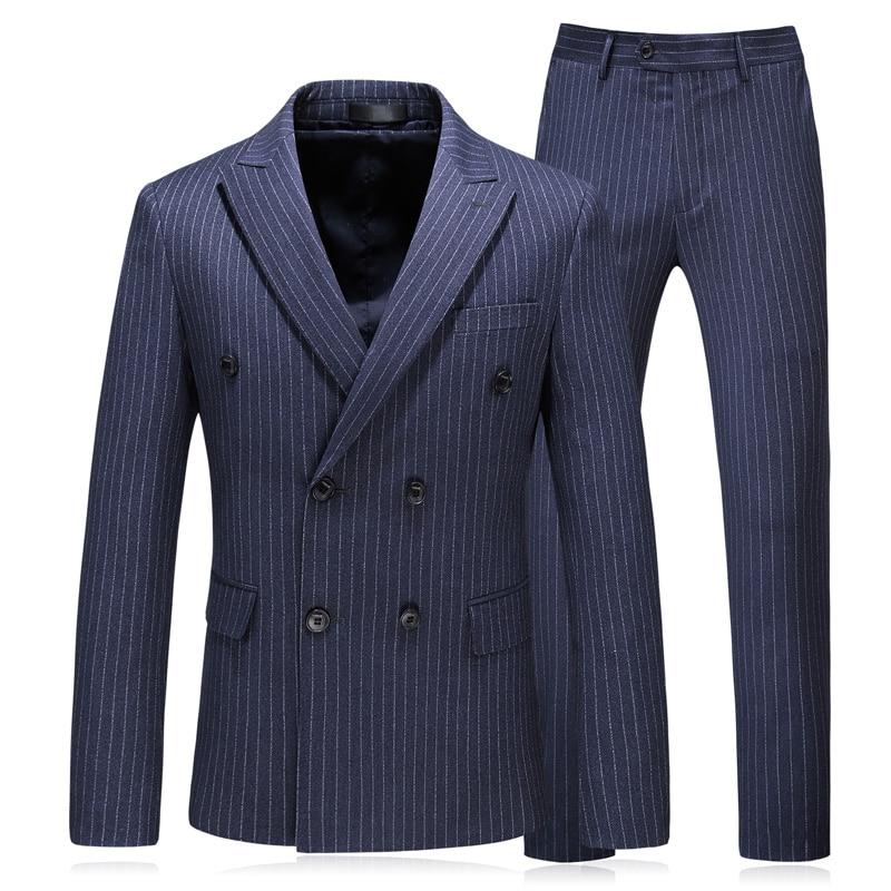 veste Décontractée Bleu Mariage Xf032 Bande Classique Costume Printemps Costumes 2018 Plein De Hommes Pantalon Gilet Mode Robe D'affaires rHaRTqw0rx