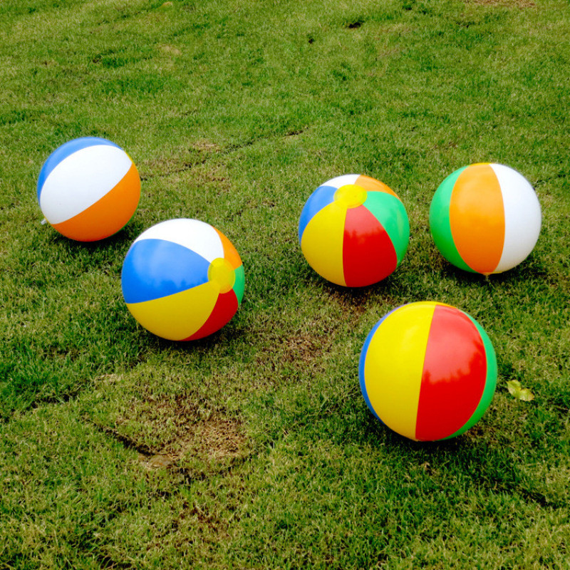 23CM Inflatable Colorful Toys Ball Inflated Beach Balls Outdoor Fun Sport Toys Summer Holiday Swimming Pool Float Game