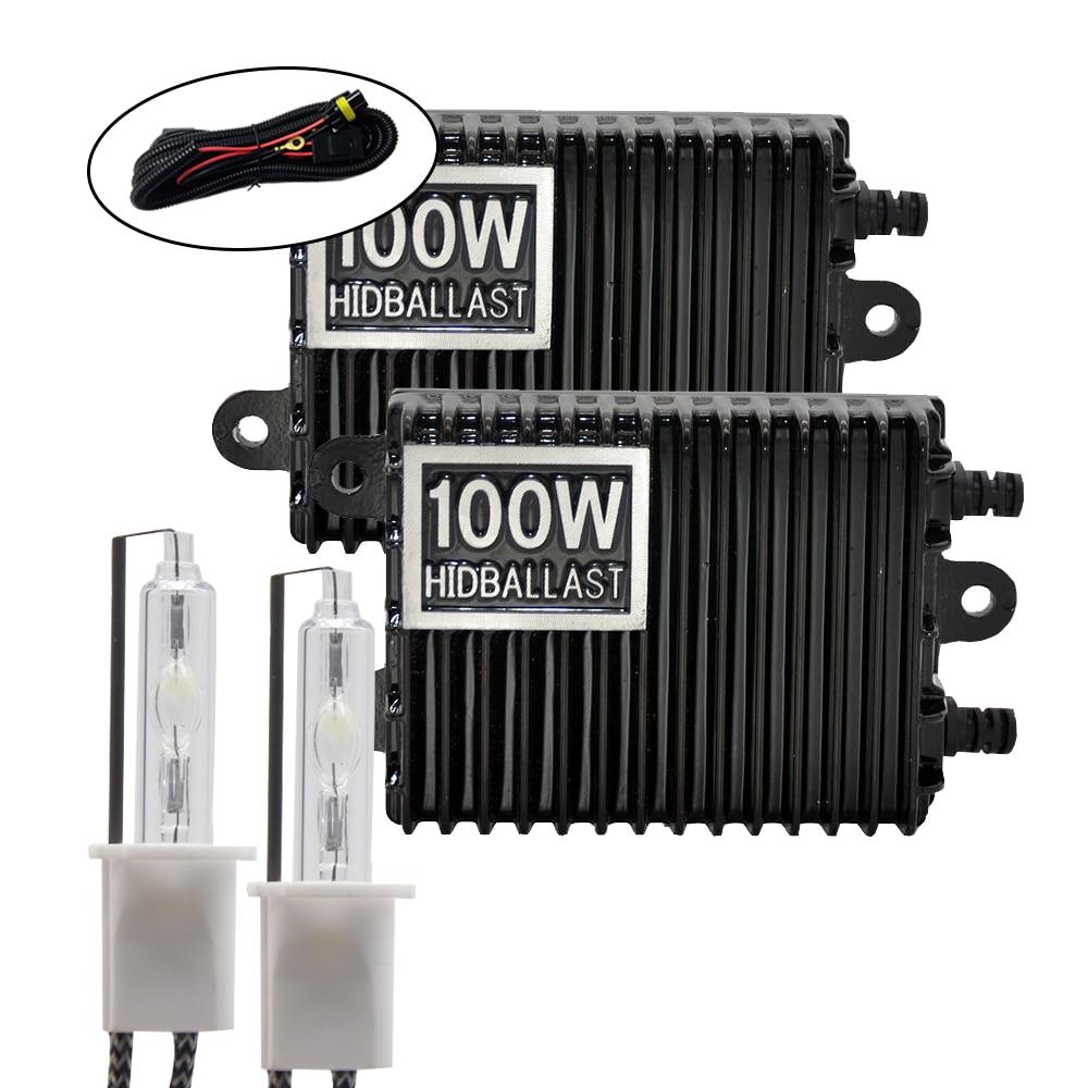 Kit de Ballast DUU 100W HID ampoule au xénon 12V H1 H3 H7 H11 9005 9006 4300k 5000k 6000k 8000k lampe de phare Auto Xeno