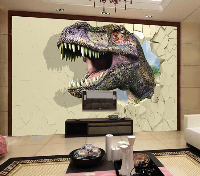 Custom papel DE parede infantil, 3 d dinosaur murals for children room boys and girls bedroom setting wall waterproof wallpaper stars galaxy wallpaper dream gilrs boys children bedroom wall blue pink tapety papel de parede infantil wall paper for kids room