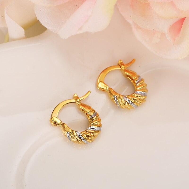 Baby Girls Small Earrings Gold Jewellery For Kids Children Women Jewelry African Best Gift