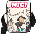 Nici Cartoon Messenger Bag for School Kids Pink Book Bags for Children messenger Teenager Girls and Boys Polyester Printing