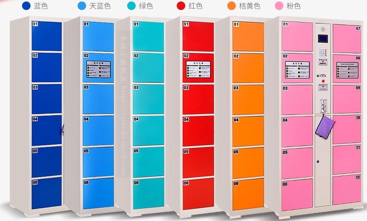 Swimming Centre Parcel Electronic Locker ID Ic Card Operated Locker Fingerprint Face Recognition Bar Code Scaning Safes Cabinets