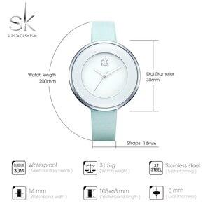 Image 5 - Shengkeブランドの女性の高級腕時計女性ホワイトレザー腕時計mixmatchドレスクォーツ時計超薄型レロジオfeminino 2020