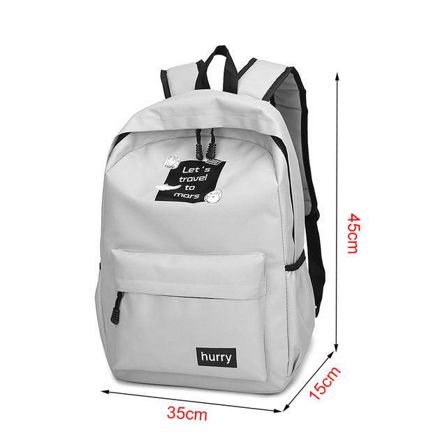 d9cb6376ca2e placeholder Amarte Canvas Backpacks New Fashion 2 Pcs School Bags for Teenager  Girls Big Capacity School Backpack