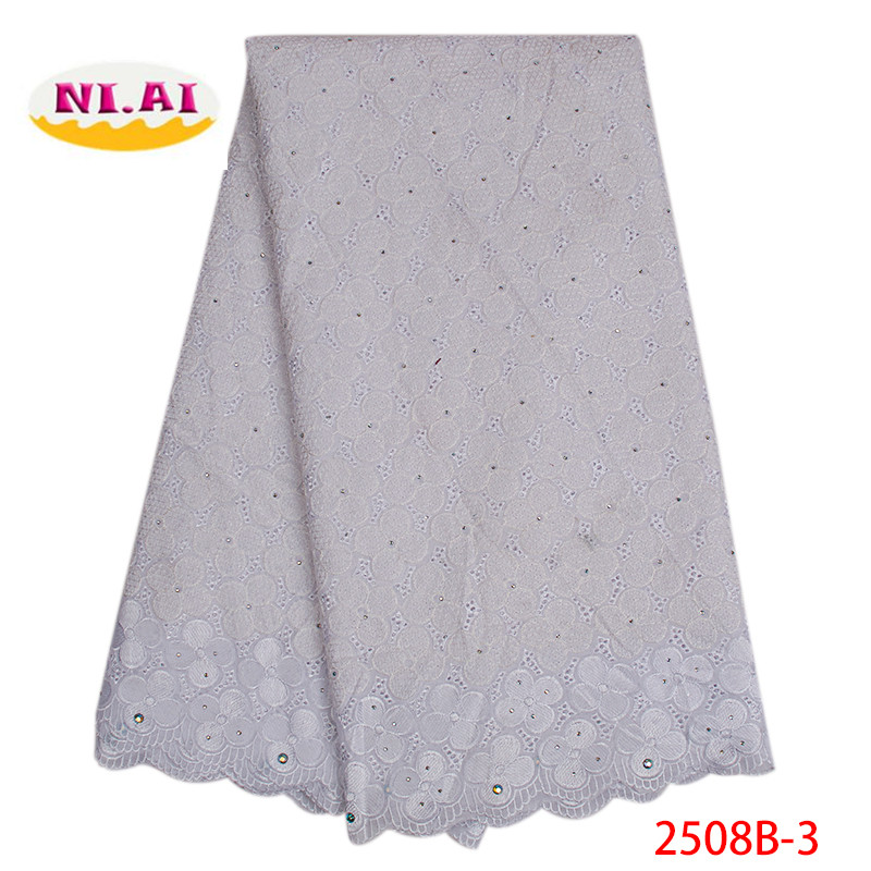 African Cotton Swiss Voile Lace Fabric 2019 High Quality Stones Swiss Voile Lace In Switzerland Nigerian