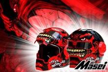 Личность мотоциклетный шлем Подлинных мужчин и женщин железный человек ретро высокого класса off-road мотоцикл красный гигант