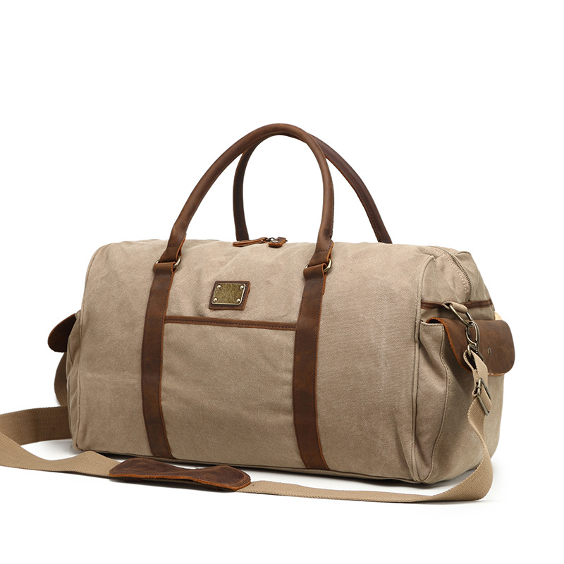 New Large Capacity Vintage Canvas Men Bag Tote Waterproof Travel Bag Casual Handbag Canvas Crossbody Bags & Shoulder Bags G040 mybrandoriginal travel totes wax canvas men travel bag men s large capacity travel bags vintage tote weekend travel bag b102