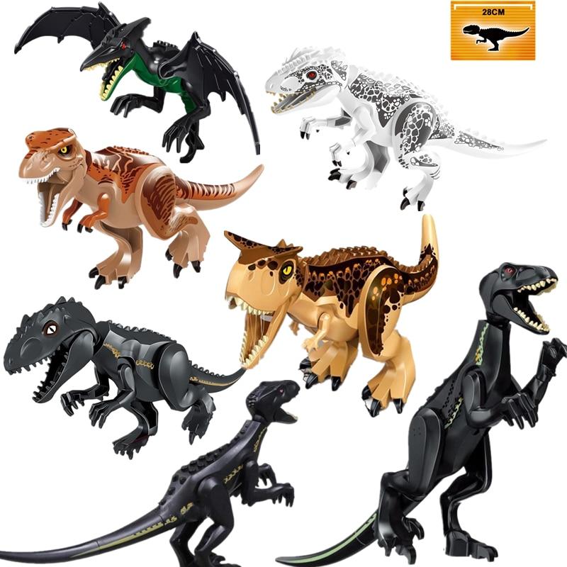 Jurassic World 2 Dinosaurs Figures Bricks Tyrannosaurus Rex Indominus Rex I-Rex Assemble Building Blocks Legoinglys Kids Toys напольная плитка rex ceramiche alabastri di rex smeraldo lap 60x120 ret