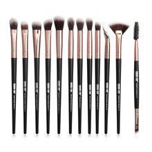 12Pcs Portable Eye Makeup Brushes Eyeshadow Eyeliner Eyelash Applicators Pretty