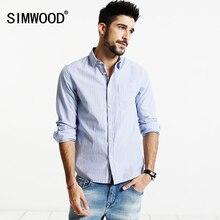 SIMWOOD 2017 Casual Gestreiften Shirts Männer Neue Herbst camisa masculina 100% Reiner Baumwolle Plus Größe Marke Kleidung Slim Fit CS1565