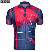 Oryginalna STIGA tenis stołowy koszula Sport koszulki Badminton Jersey mujer hombre tenis PING POING Odzież tenis stołowy Odzież tanie tanio Unisex Pasuje do rozmiaru Weź swój normalny rozmiar G1403143