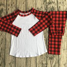 Черные и красные пижамы с длинными рукавами-реглан для мальчиков и девочек, рождественские пижамы для всей семьи