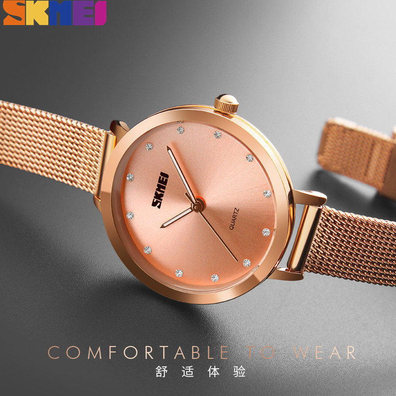 SKMEI Women Quartz Watches Fashion Top Brand Luxury Clcok Watch Women Life Waterproof Female Wristwatch Relogio Feminino 1291