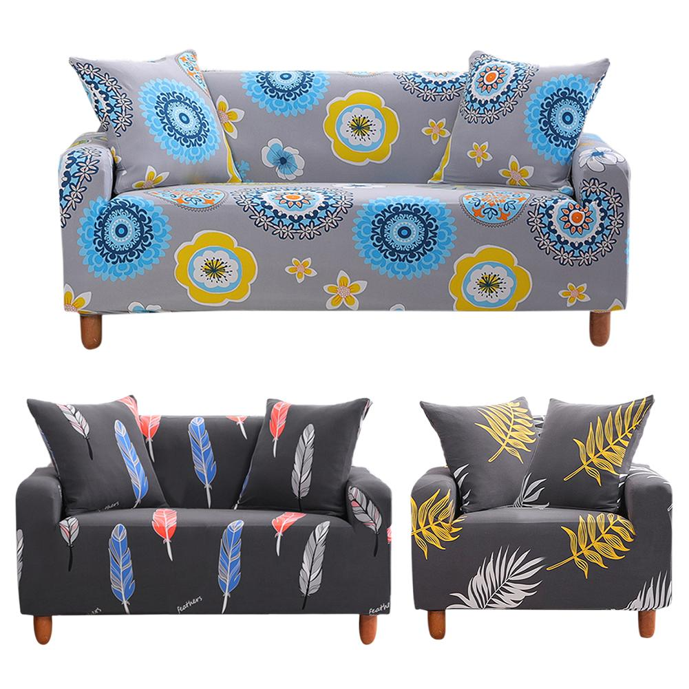 Tremendous Printed Sofa Cover Stretch Couch Cover Sofa Slipcovers Stretch Fabric Seater For Couches Elastic Force All Inclusive Full Cover Couch Slipcover Ncnpc Chair Design For Home Ncnpcorg
