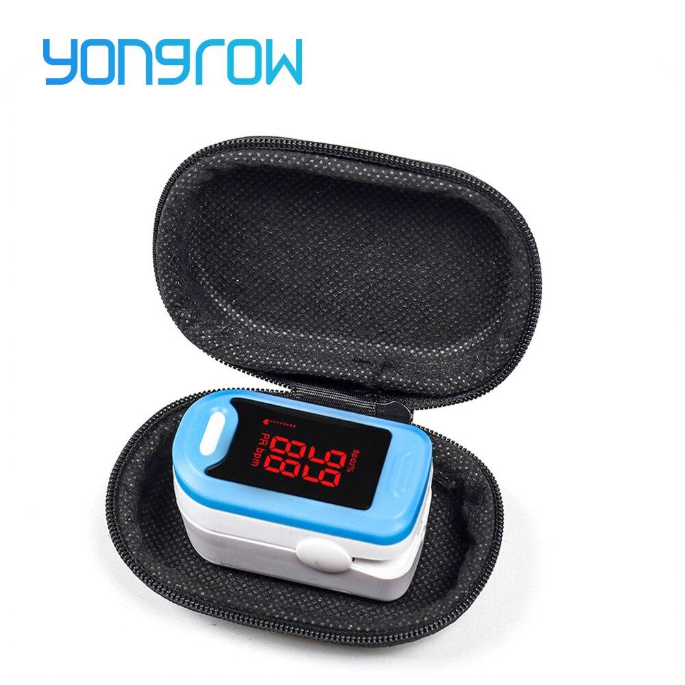 Yongrow LED Fingertip Pulsoximeter Digitale Pulsoximeter Blut Sauerstoff Sättigung Monitor Medizinische Gesundheit Pflege Spo2 PR Oximeter
