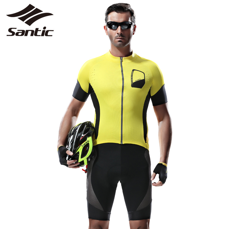 Santic Cycling Jerseys Summer Style Outdoor Sports Clothing Men Motocross Jersey Tights Bicycle T-Shirts 2017  -  Sport store