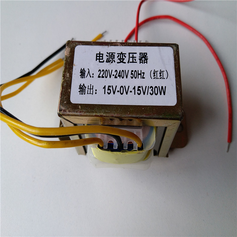 15V Transformer <font><b>30VA</b></font> output dual AC15V-0-15V 30W for preamplifier board pre-amplifier board preamp amplifier image