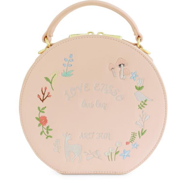 Embroidery Lady Bird Pink Circular Lolita Girl Deer Bags Bellflower Fresh PU Wom