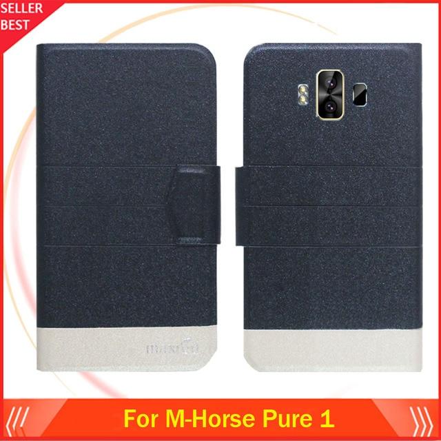 5 couleurs chaudes!! M-horse Pure 1 étui Ultra-mince Flip en cuir couverture de téléphone Exclusive Folio livre fentes pour cartes livraison gratuite