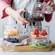 Прозрачные термостойкие стеклянные банки скандинавские Фламинго DIY конфеты мороженое качество не проливается салат Прозрачная чаша