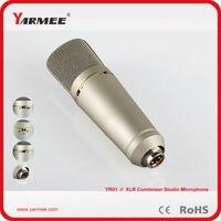 Best quality cardioid/Bi/Omni wide application wired electret condenser studio Karaoke recording microphone YR01