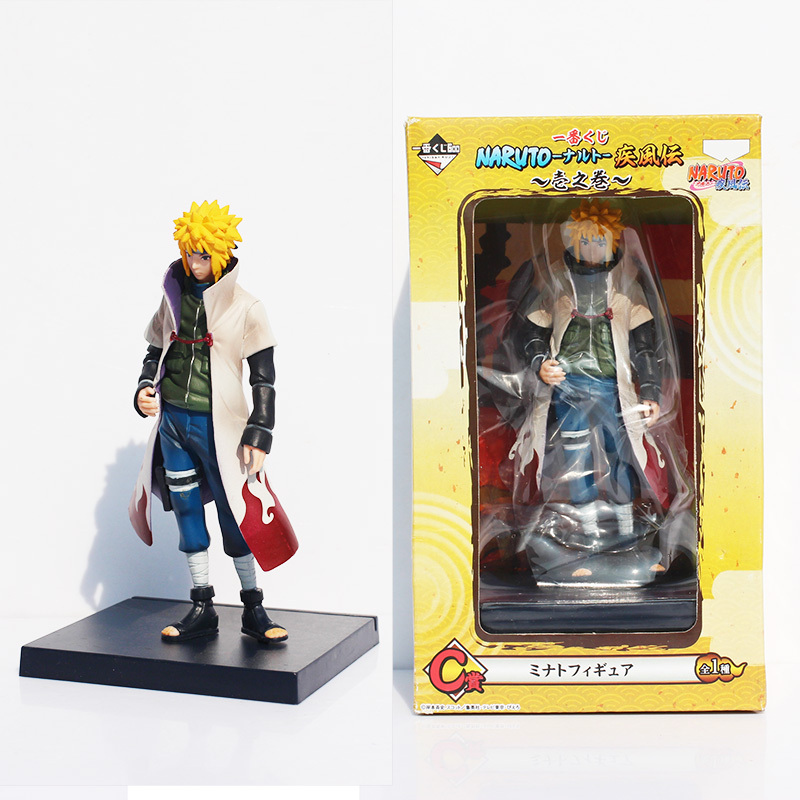 Naruto Yondaime Hokage Namikaze Minato Action figure PVC Doll With Box 16cm Free Shipping saintgi naruto shippuuden hokage suit namikaze minato pvc action figure anime toy collectible model doll 15cm free shipping