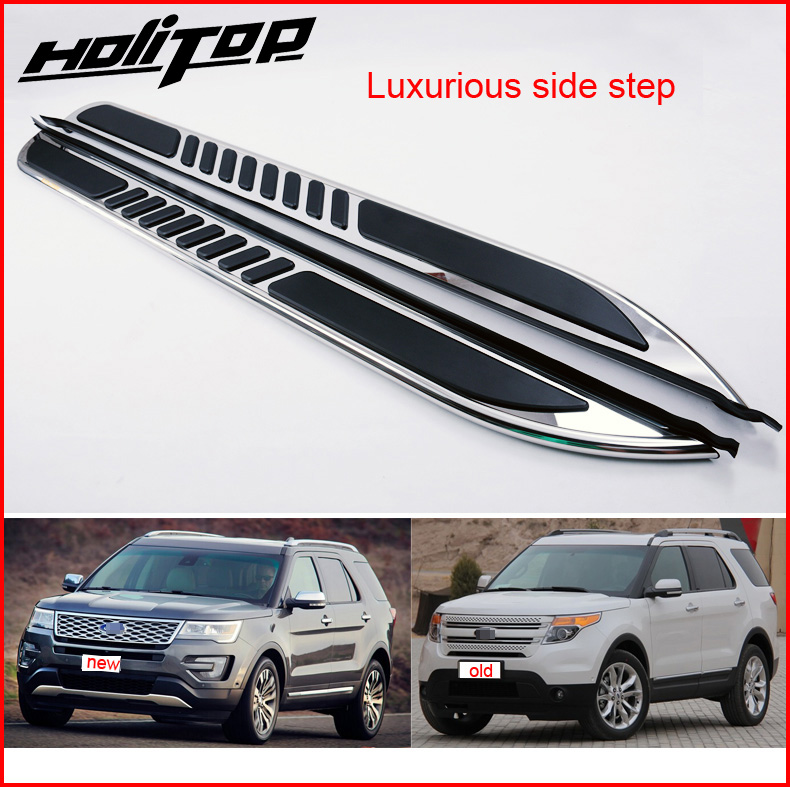 Luxury running board side step foot bar for ford Explorer 2011 2018 EU newest model thicken