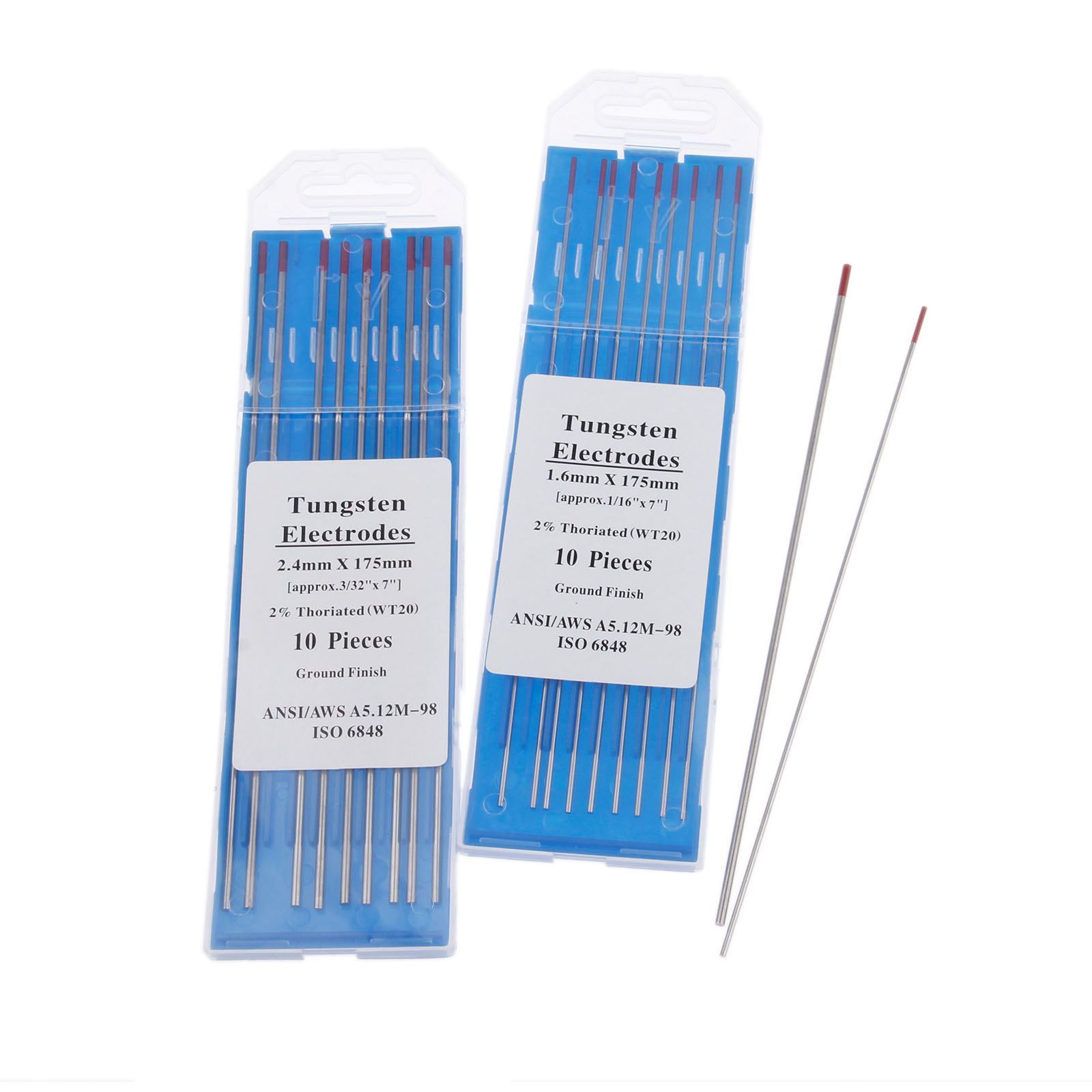 red,white,grey,blue,gold,black 10 x 1.6mm Tig Welding Tungsten Electrodes