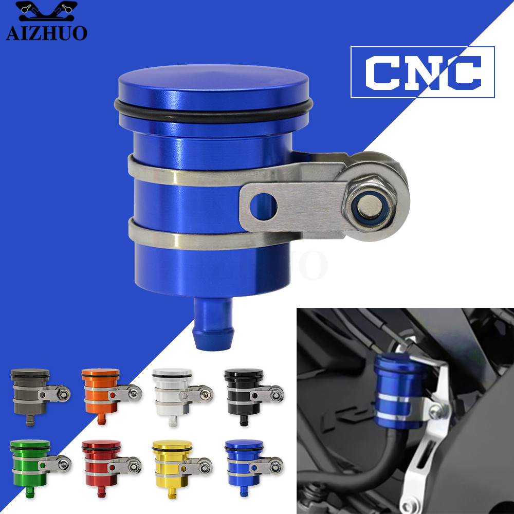 AIZHUO Universal Motorcycle Oil Brake Reservoir Fluid Cup for YAMAHA XJR 1300 R6S XT660 X R Z TMAX500 530 SUPERTENERE XT1200ZE in Covers Ornamental Mouldings from Automobiles Motorcycles